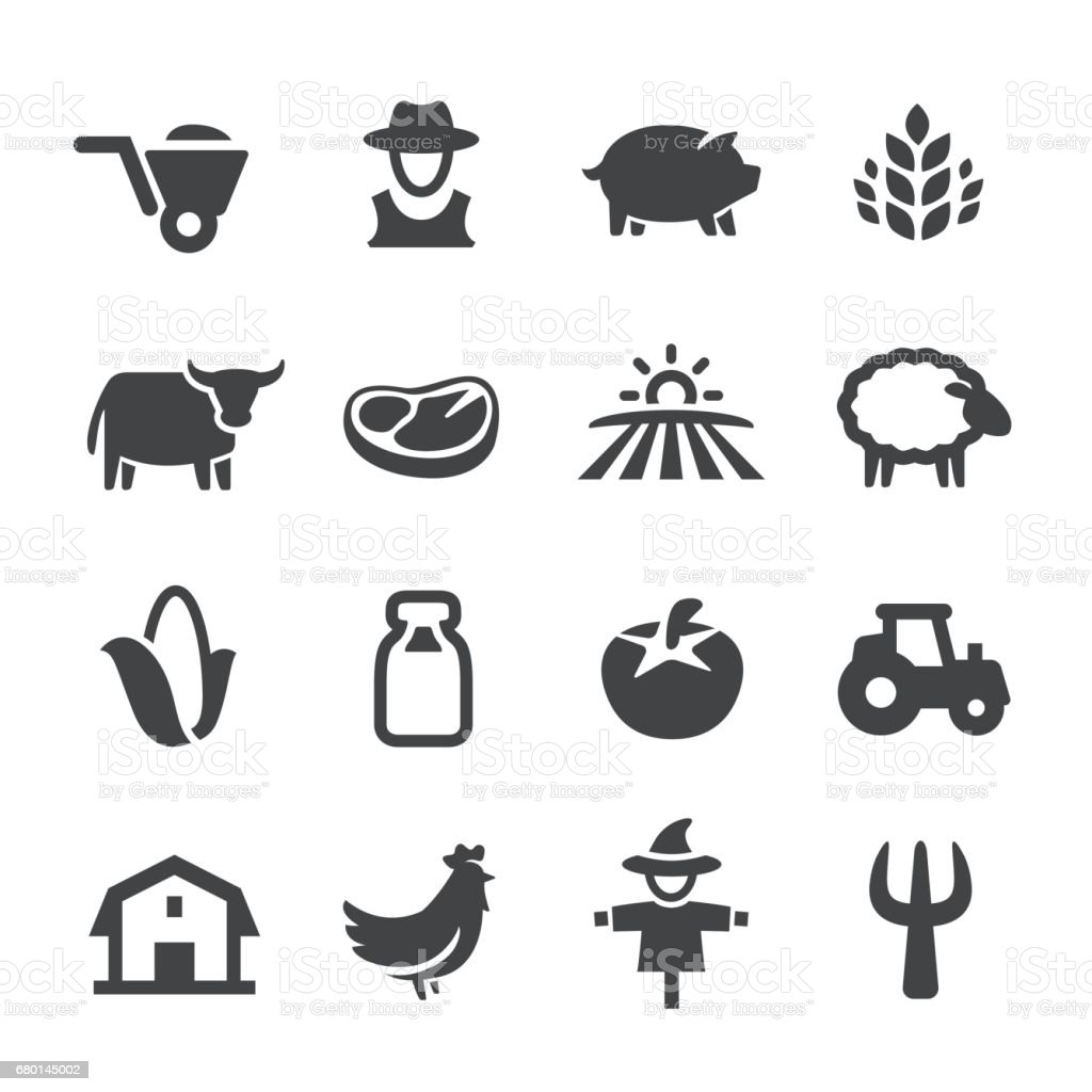 Farm Icons - Acme Series vector art illustration