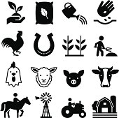 Farm and agricultural icons. Professional vector icons for your print project or Web site. See more in this series.