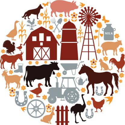 Farm Icons Composition