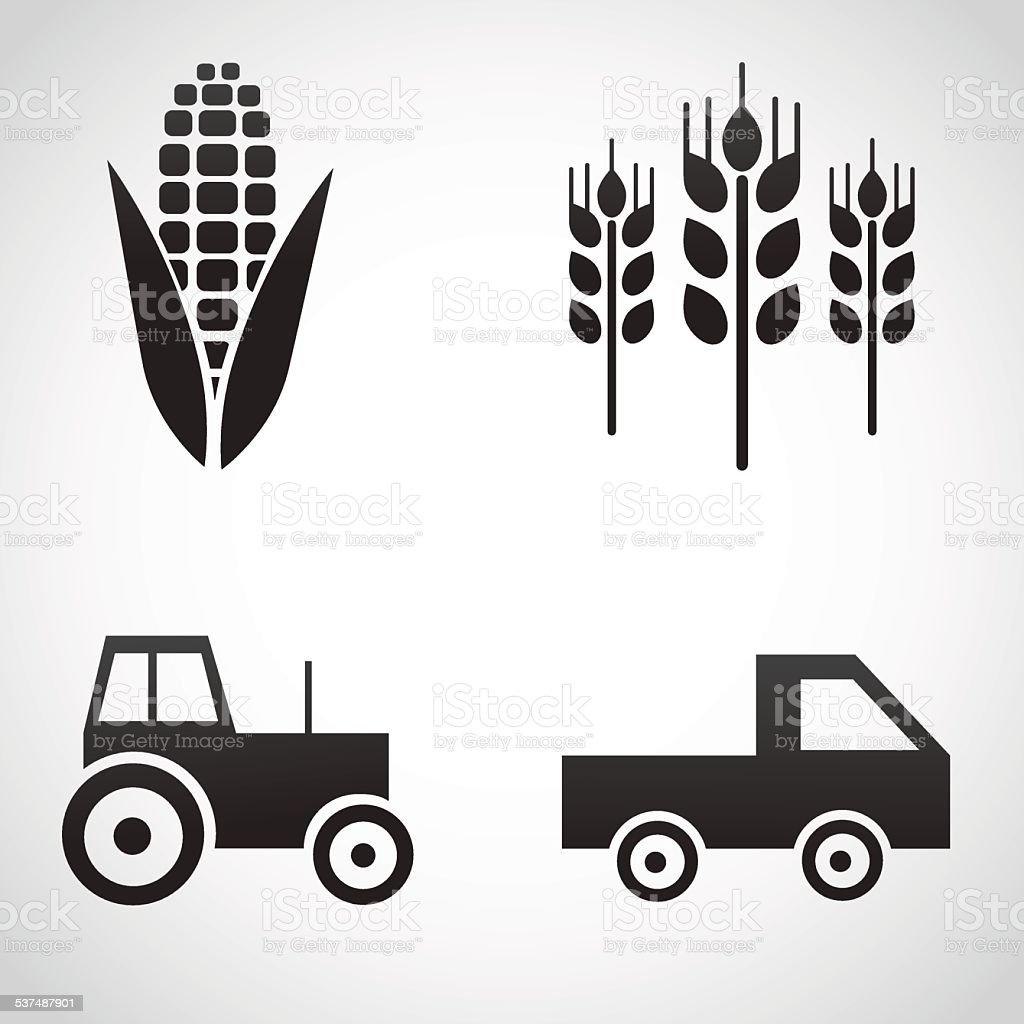 Farm icons isolated on white background. vector art illustration