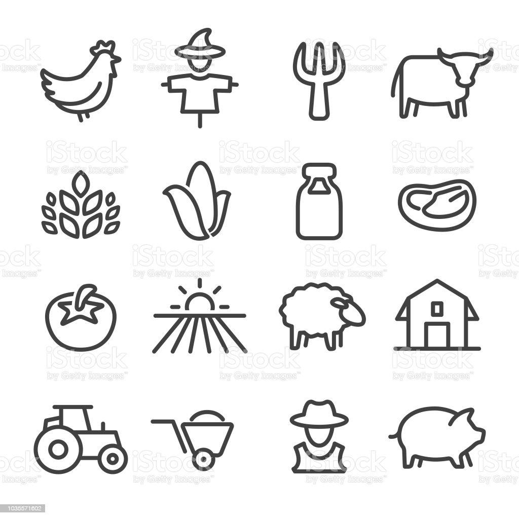 Boerderij Icons - Line serie - Royalty-free Biologisch vectorkunst