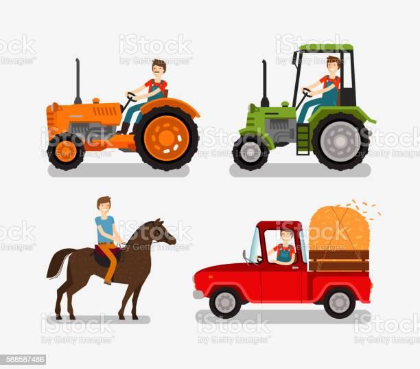 Farm icons set cartoon symbols such as tractor truck horse vector id588587486?b=1&k=6&m=588587486&s=612x612&h=a e36sq1qdkpezx4bzio82igvloadkxqojzpqyi yeg=