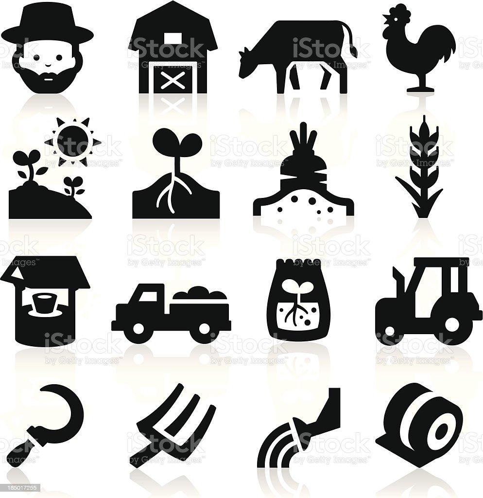 Farm Icons Two vector art illustration