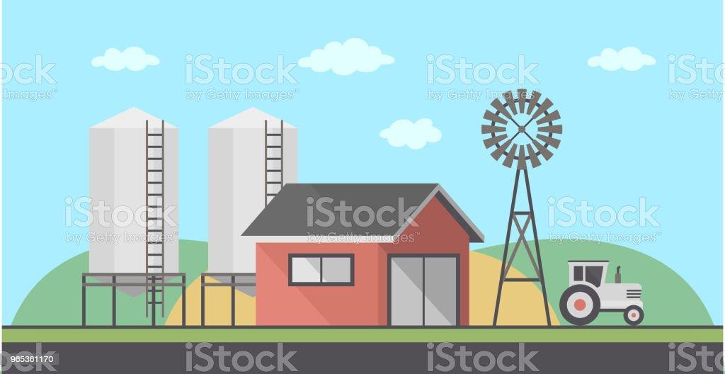 Paysage de la ferme - clipart vectoriel de Agriculture libre de droits