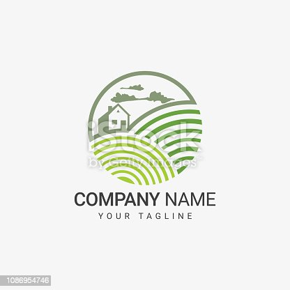 Farm Logo Template, art design