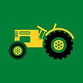 Farm Or Construction Tractor Illustration - Vector