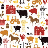 A farming themed repeatable pattern. See below for an icon set version of this file.
