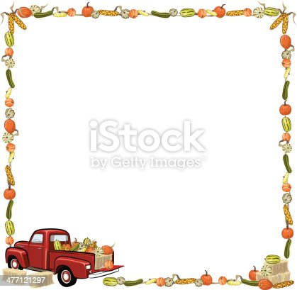 Farm Produce Frame C Stock Vector Art & More Images of Abundance ...