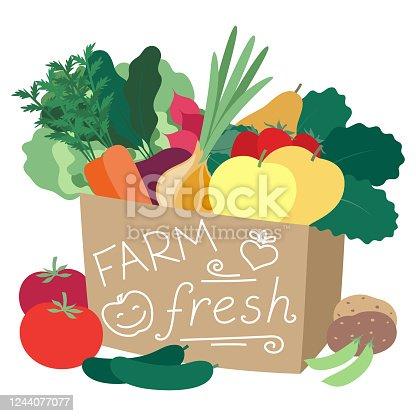 Farm produce in a bag
