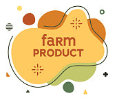 Farm product social media advertisement banner to create eye catching and elegant posts. Modern liquid fluid abstract background elements with vector illustrations.