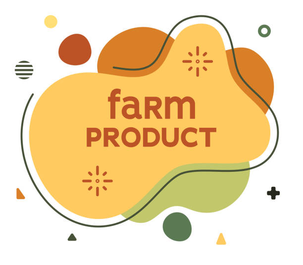 Farm Product Social Media Advertisement Banner Farm product social media advertisement banner to create eye catching and elegant posts. Modern liquid fluid abstract background elements with vector illustrations. ethical consumerism stock illustrations
