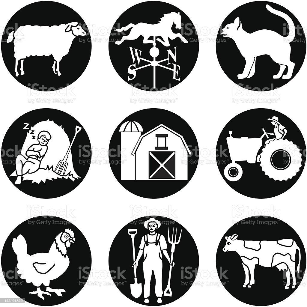 farm reversed royalty-free stock vector art