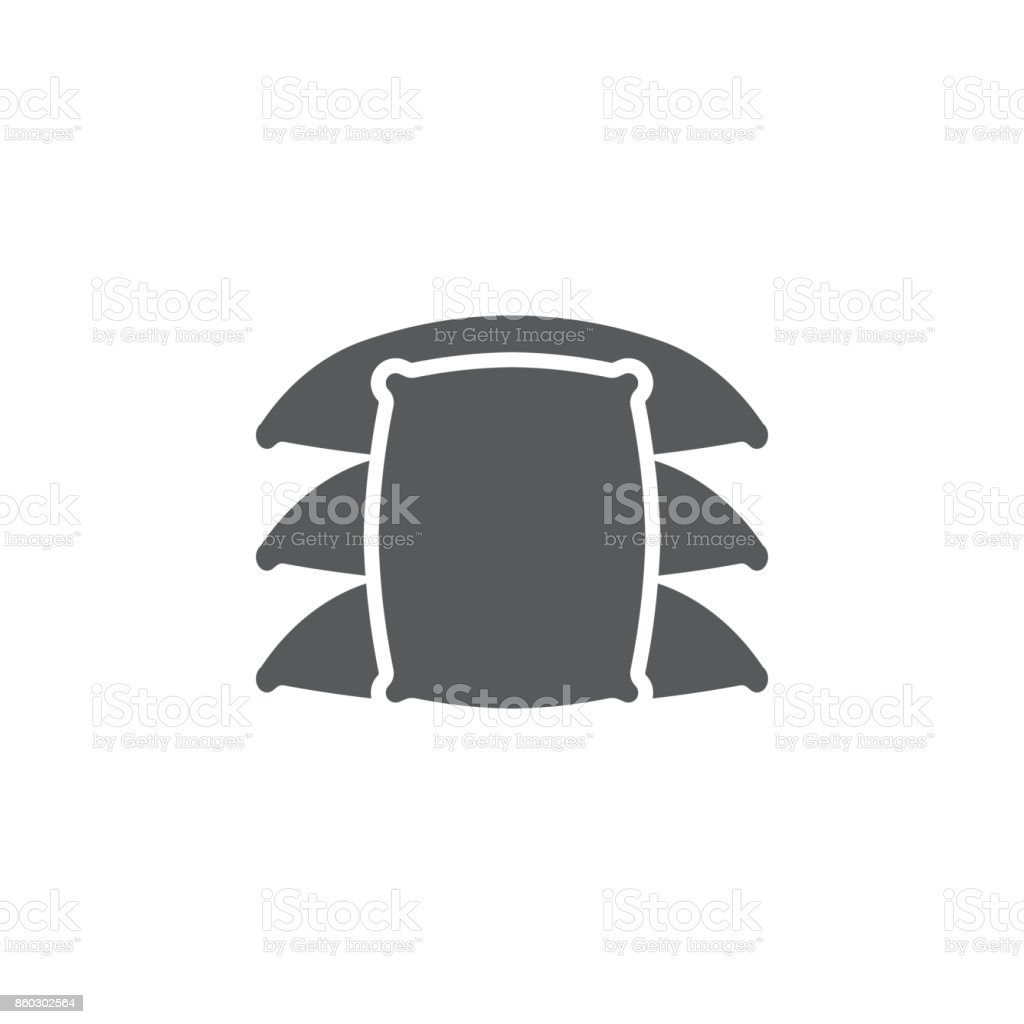 farm sack isolated icon vector art illustration