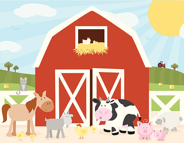Royalty Free Farm Animal Cartoons Clip Art, Vector Images ...Farm Scene Clip Art Pictures
