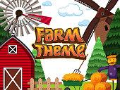 A farm theme background