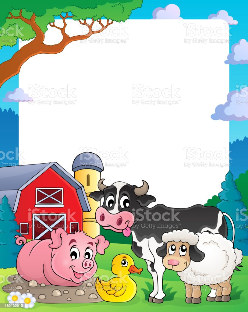 Farm theme frame 2 royalty-free stock vector art