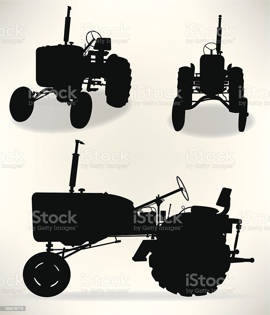 Farm Tractor - Antique vector art illustration