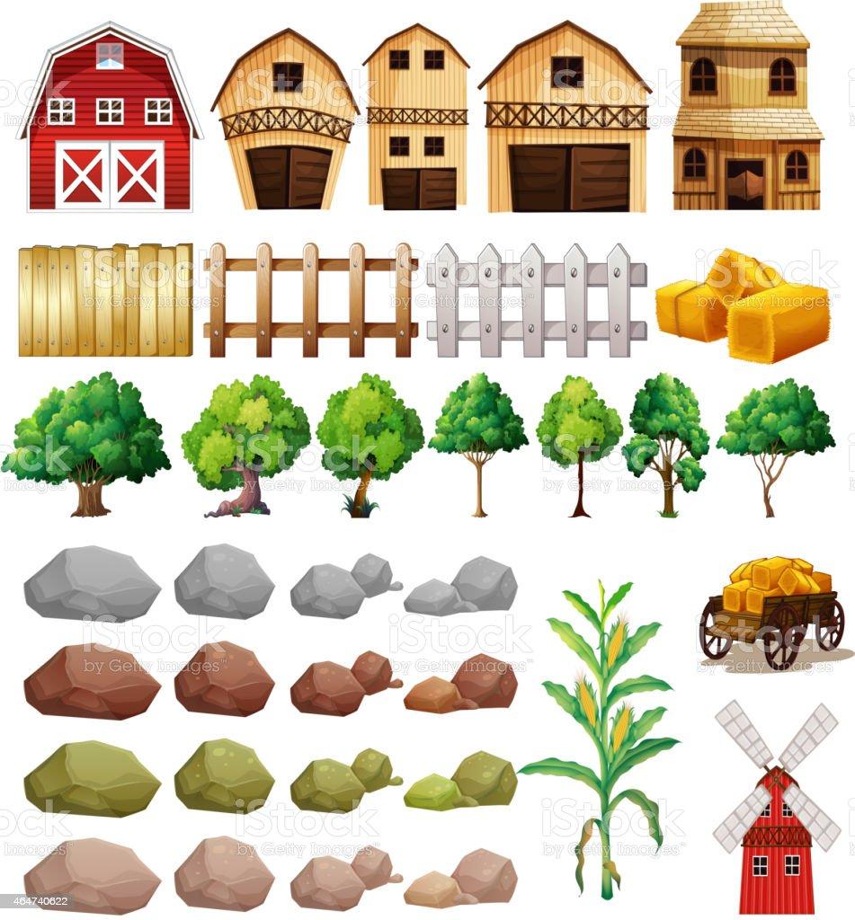 Farm vector art illustration