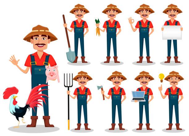 農家の漫画のキャラクター、設定 - 農業従事者点のイラスト素材/クリップアート素材/マンガ素材/アイコン素材