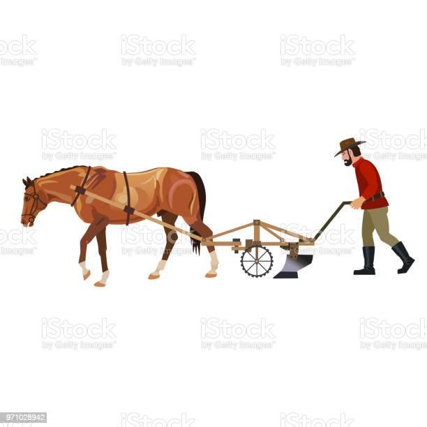Farmer plowing field with horse vector id971028942?b=1&k=6&m=971028942&s=612x612&h=5zsdghdnva8wk7ntf tdlan7o9k4dcu7nh4hgnnhxdg=