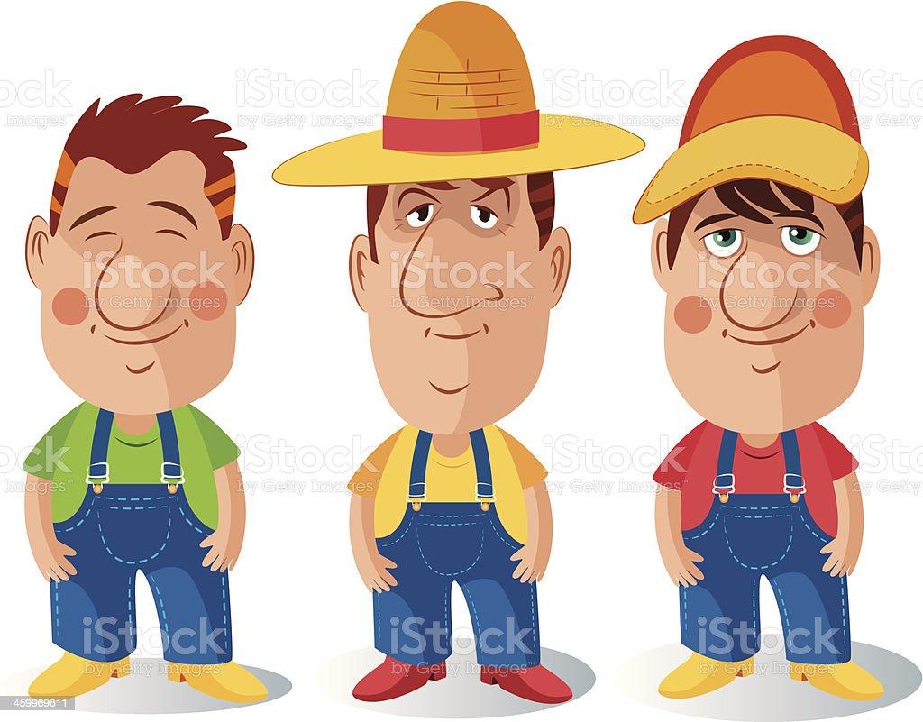 Farmer vector art illustration
