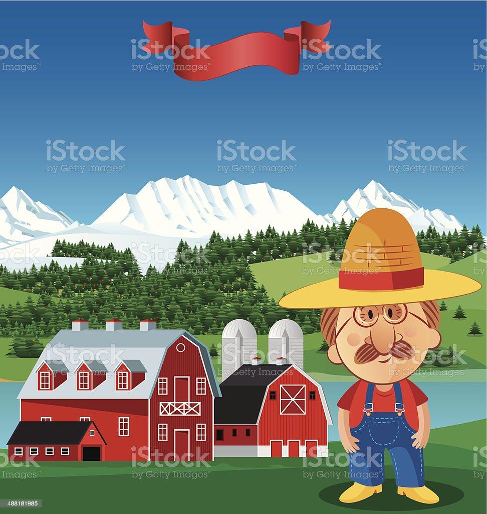 Farmer royalty-free stock vector art