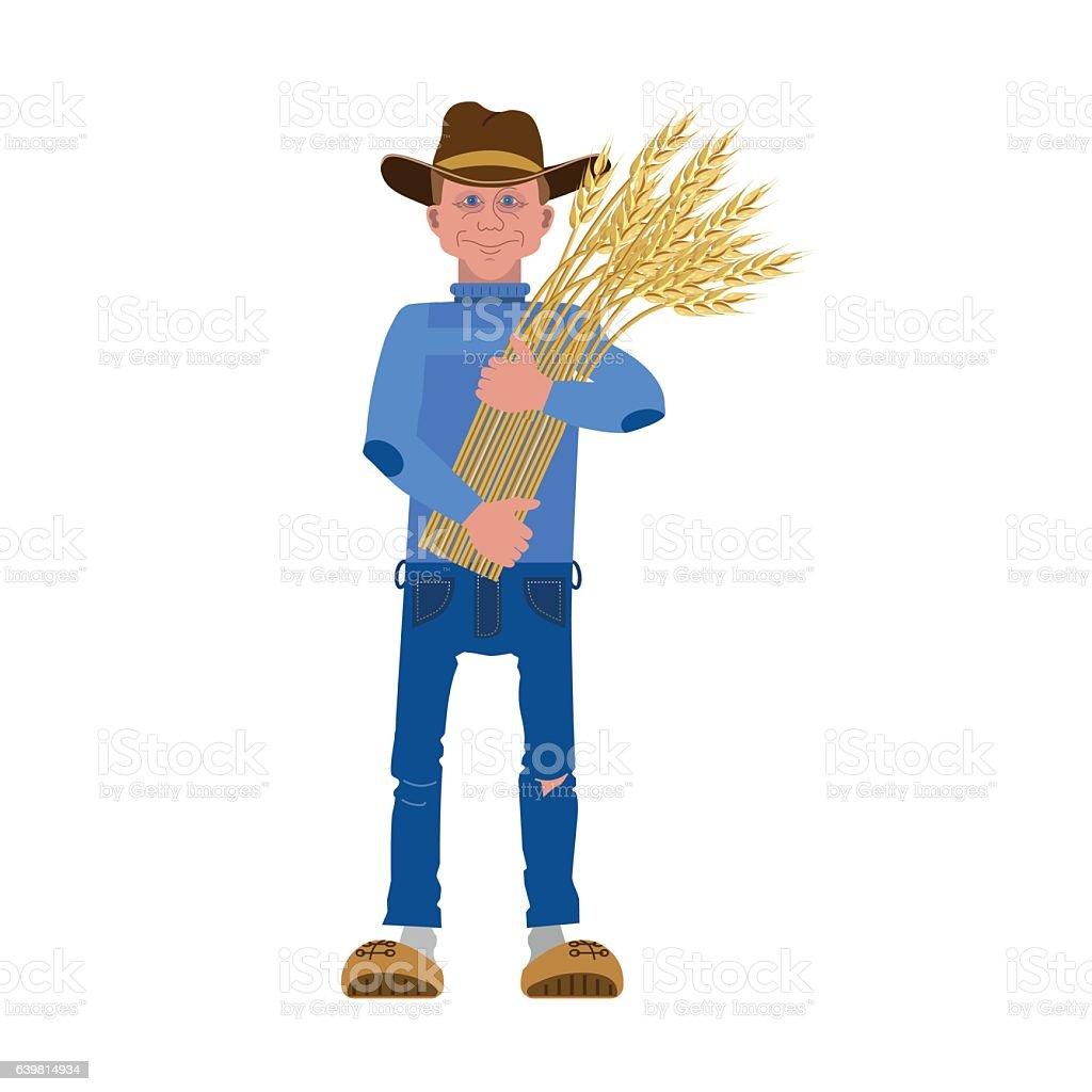 Agricultor  - ilustración de arte vectorial