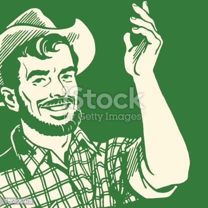 Gesturing Farmer with a Beard