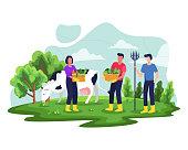 istock Farmer working on garden 1303644694