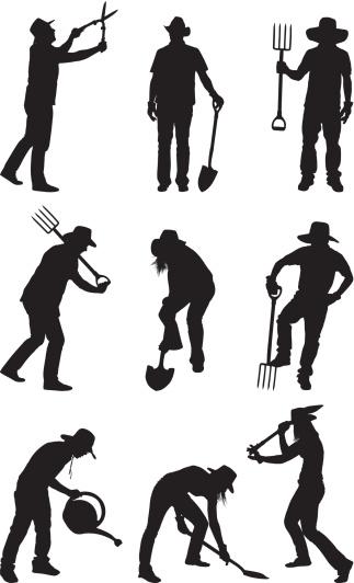 Farmers and gardeners gardening