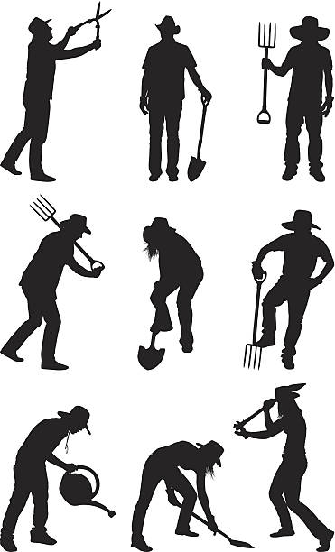 Landwirte und Gärtner Gärtnern – Vektorgrafik
