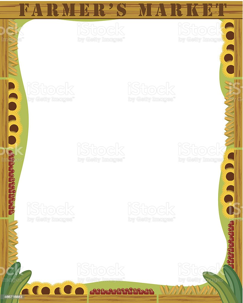 Farmers Market Frame C Stock Vector Art & More Images of Abundance ...