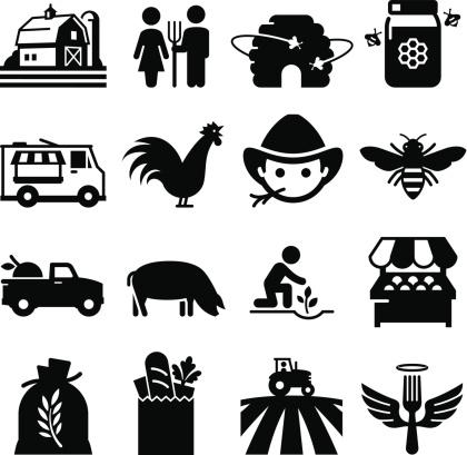 Farmer's Market Icons - Black Series