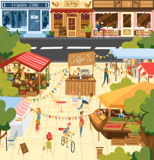 Food and drink festival stock illustrations