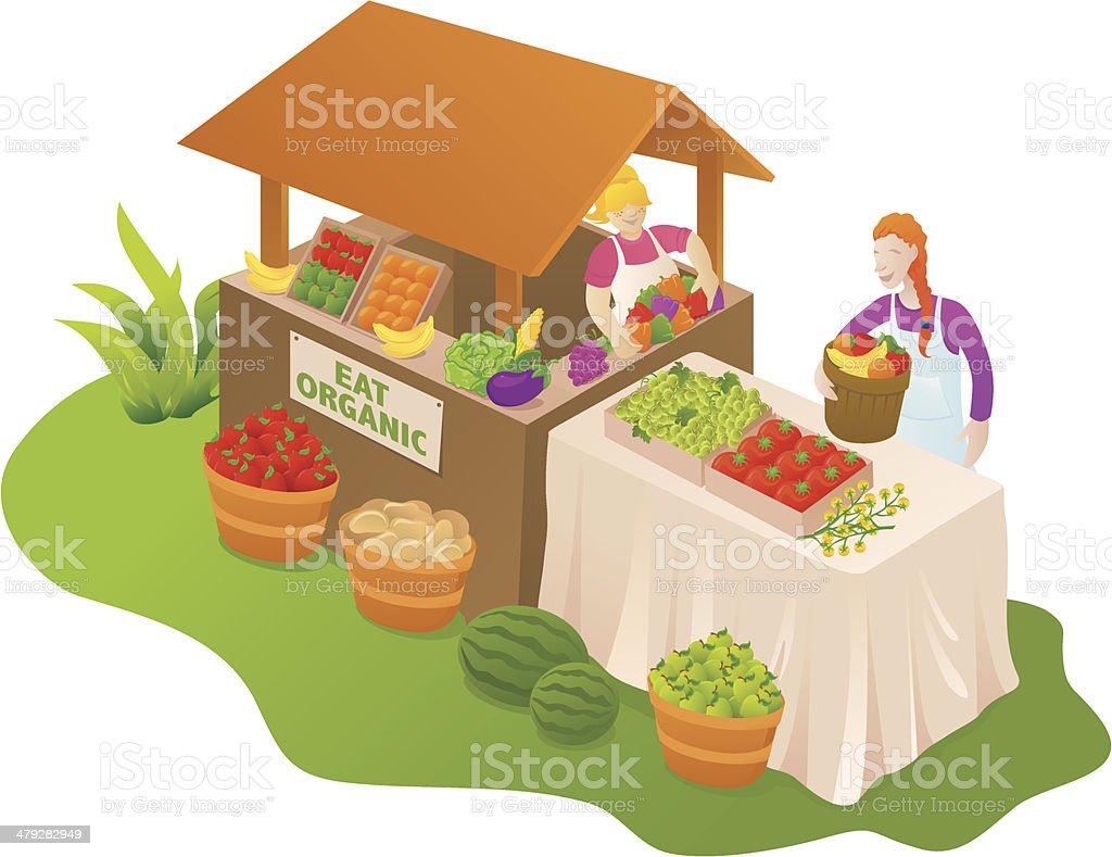 Farmers market royalty-free stock vector art
