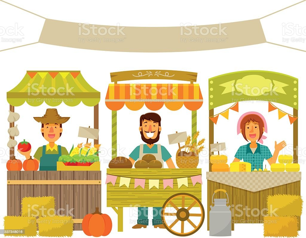 royalty free market stall clip art vector images illustrations rh istockphoto com market clipart black and white farmers market clipart