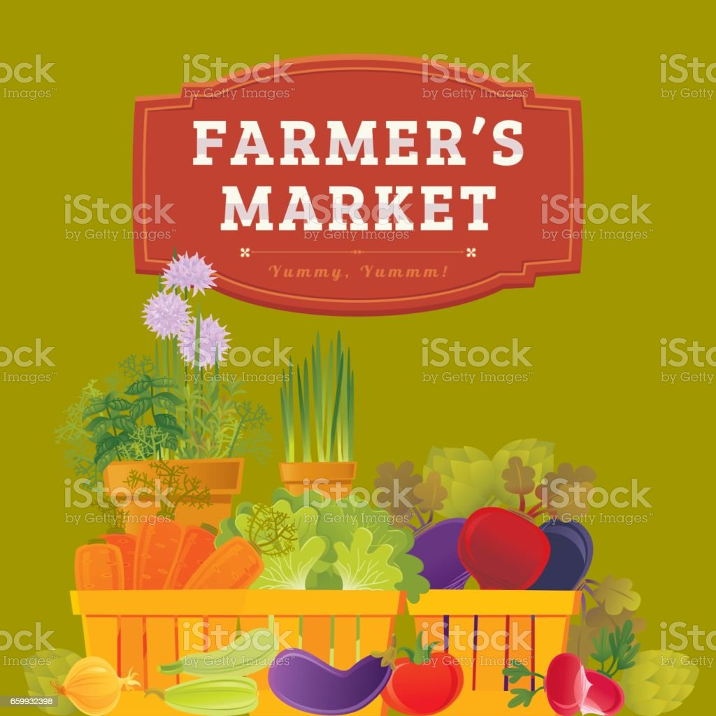 Farmer's Market royalty-free farmers market stock vector art & more images of advertisement