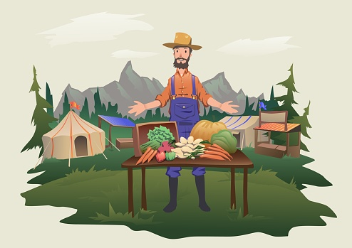 Organic food stock illustrations