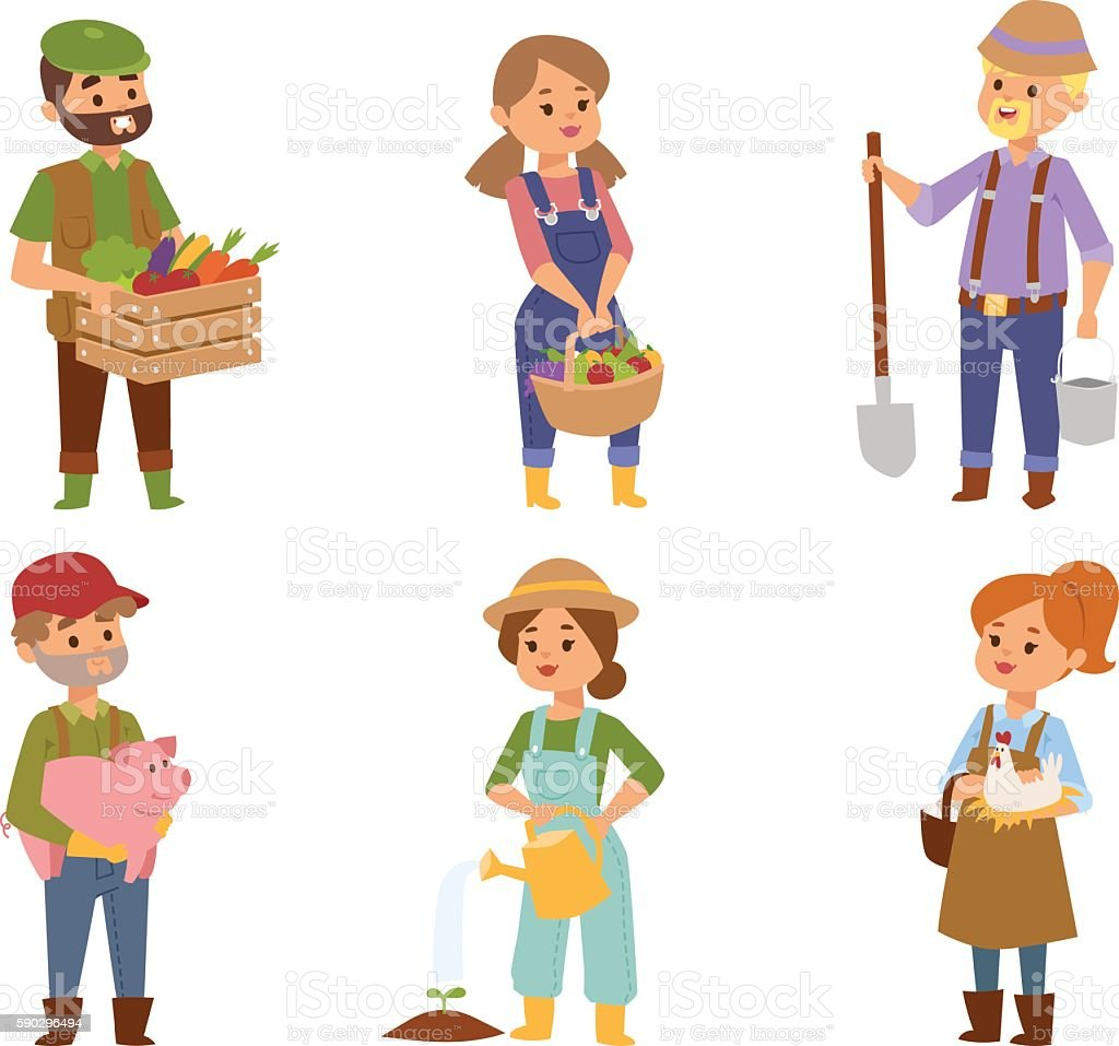 Farmers people vector characters farmers people vector characters — стоковая векторная графика и другие изображения на тему Бизнес Стоковая фотография