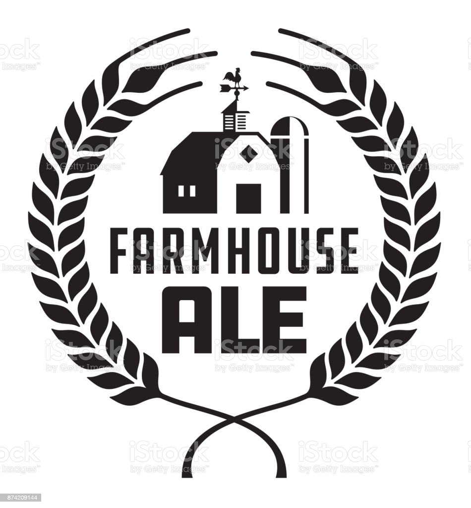 Farmhouse Ale Badge or Label. vector art illustration