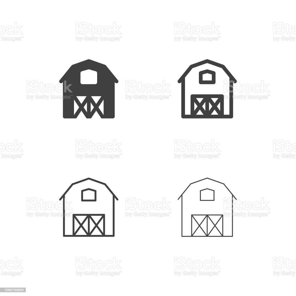 Farmhouse Icons Multi Series Stock Illustration - Download