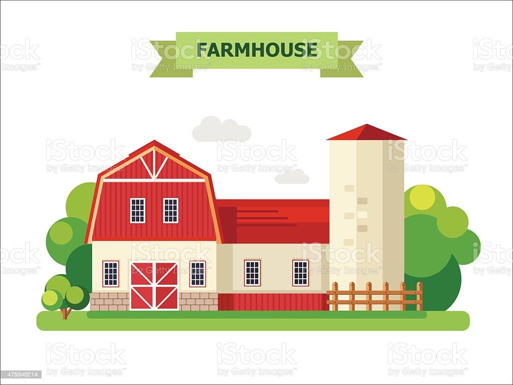 Farmhouse Royalty Free Stock Vector Art