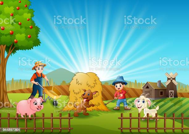 Farming activities on farms with animals at morning vector id944897364?b=1&k=6&m=944897364&s=612x612&h=ebf 0ibw fpacqgawixtqrmpatizczdymwwuz3rf9cw=