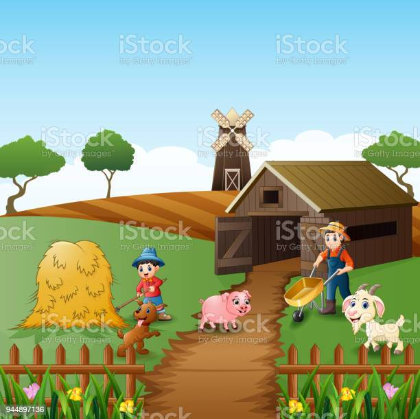 Farming activities on farms with animals in front of the cage vector id944897136?b=1&k=6&m=944897136&s=612x612&h=54ftid kzqmoghniqclpg0dsik7hxgefvml8wfs gpg=