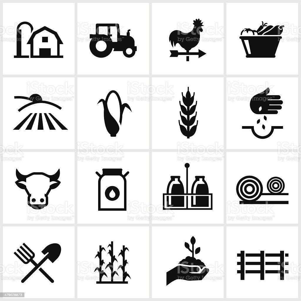L'élevage et Agriculture des icônes - Illustration vectorielle