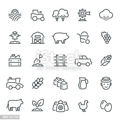 Farm, agriculture, harvest, icon, icon set, silos, barn, planting