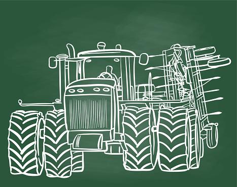 Farming Combine Chalkboard