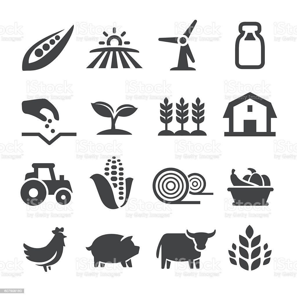 Farming Icons - Acme Series - Royalty-free Agricultura arte vetorial
