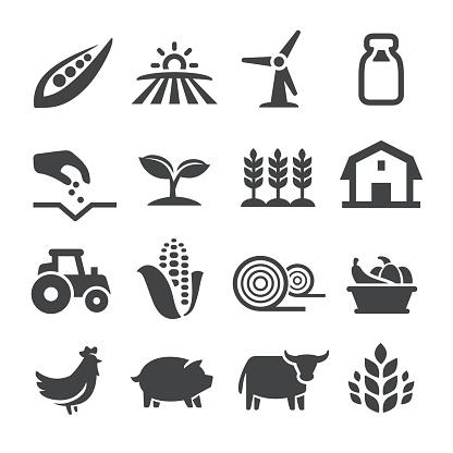 Farming Icons Acme Series - Arte vetorial de stock e mais imagens de Agricultura