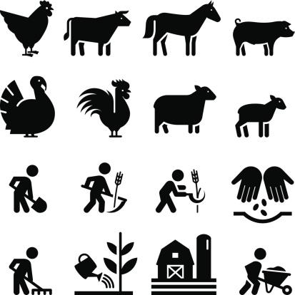 Farming Icons- Black Series
